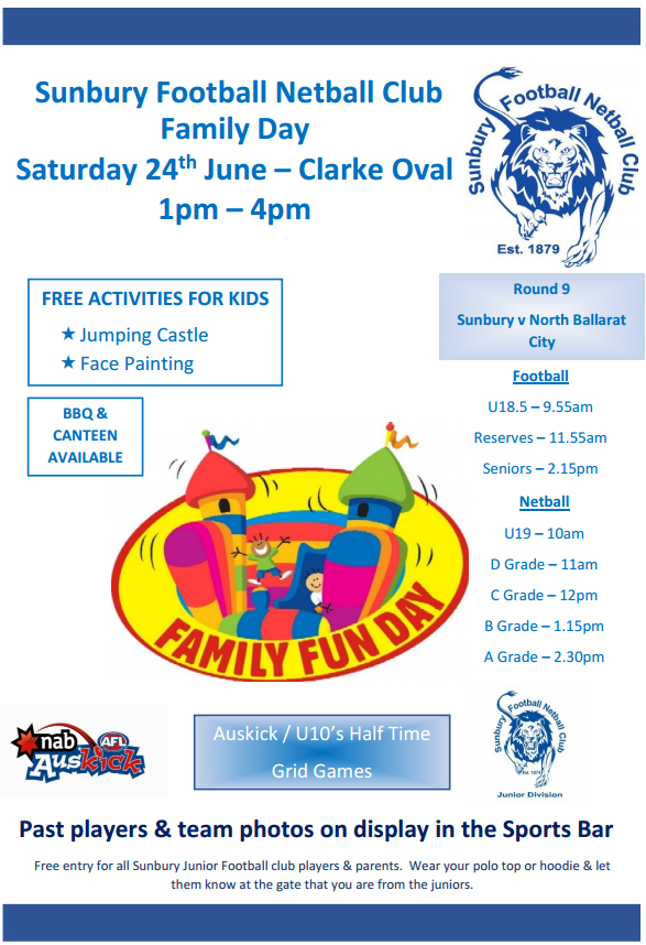 Free Entertainment! Family Fun Day Saturday 24th June